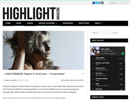 Highlight Magazine features a Peppina Spotlight