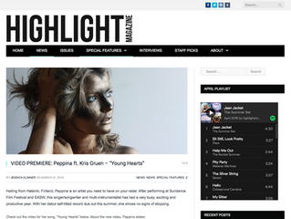 Highlight Magazine features a Peppina Spotlight