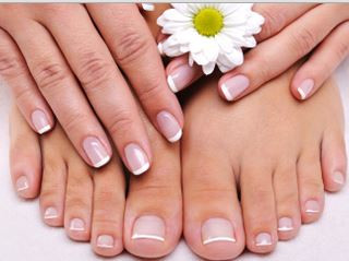 clear&beautiful nail for summer