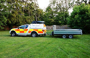 Rapid Response Helikite Trailer being to