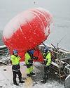 flying large helium balloons