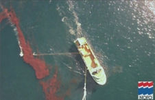 finding oil leakage from ocean tanker and drilling rig