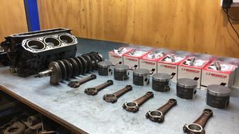 Mercury V6 2 Stroke Ready for Aessembly