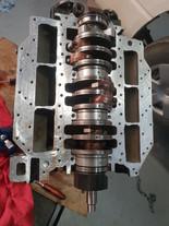 Mercury V6 2 Stroke Crank Installed