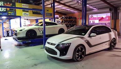 R35 GTR & FPV GTP at Twizel Auto & Marine