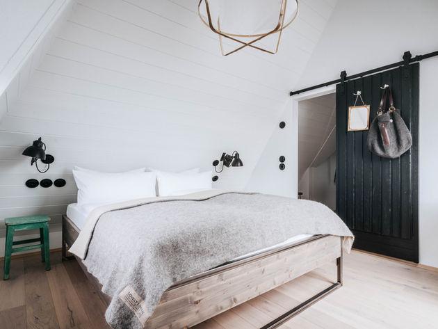 Schlafzimmer unter Dach