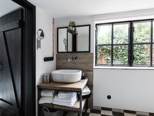 Badezimmer in Reetdachhaus