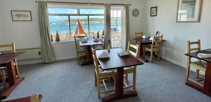 New dining areas leading onto the beach patio