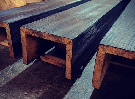 Cypress Boxed Beams:  Shou Sugi Ban