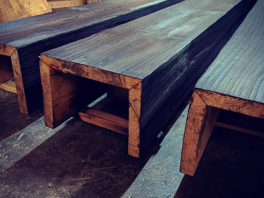 Cypress Boxed Beams:  Shou Sugi Ban