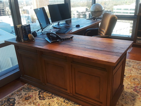 Chestnut Barnwood Desk