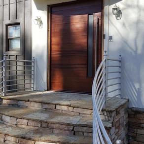 Custom-Built Pivot Mounted Door