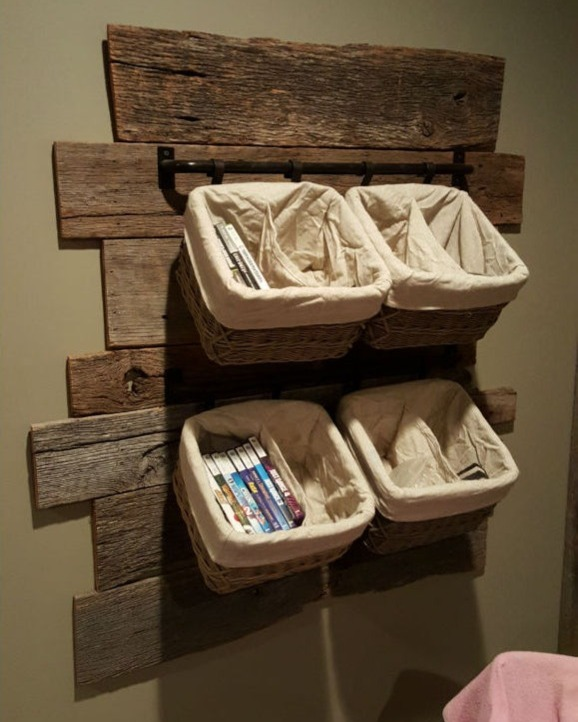 Barnwood Wall Cubbies