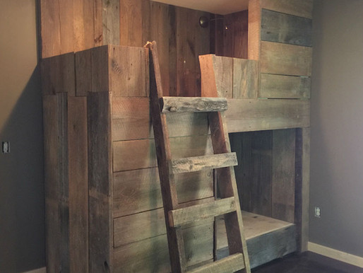 Barnwood Bunk Beds