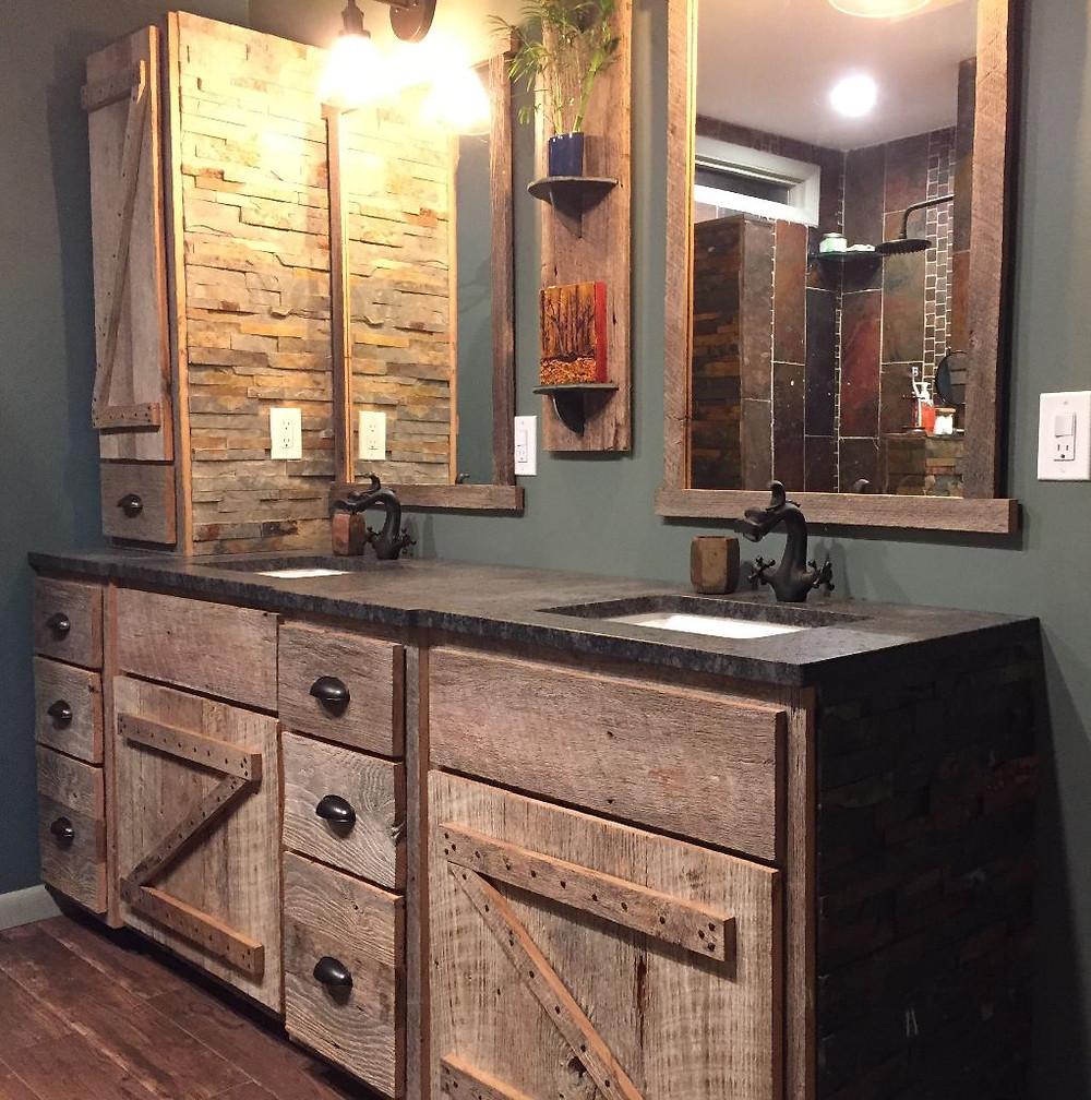 barnwood vanity