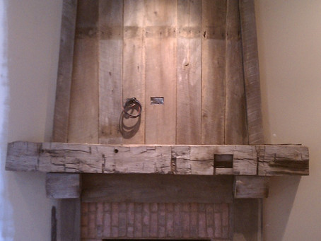 Timber and Barnwood Mantel