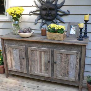Reclaimed Barnwood Cabinet