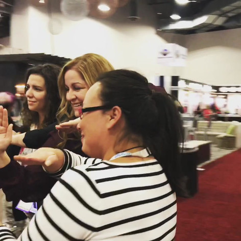 A little fun with clients at a Trade Show