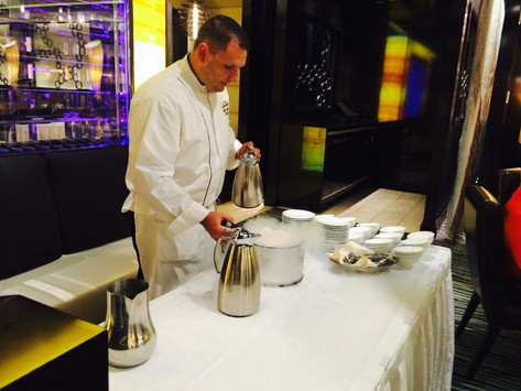Bananas Foster Demo for Event