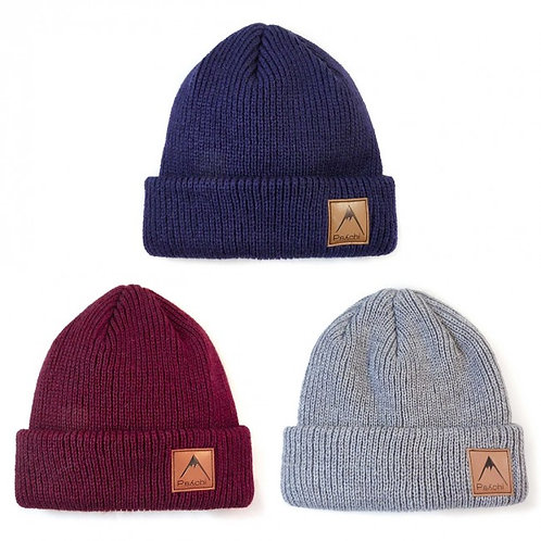 PSYCHI Leather Patch Beanie