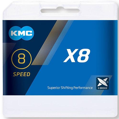 KMC X8 Silver Chain 114L