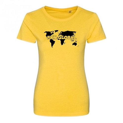 FXN.GLOBAL World Map Tee- Women's