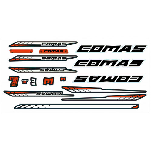 COMAS R1 Stickers Set