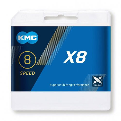 KMC X8 Silver/Grey Chain 114L