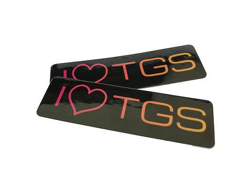 I love TGS Stickers (x2)
