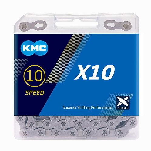 KMC X10 Grey Chain 114L