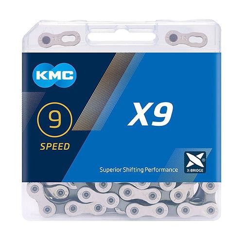 KMC X9 Silver/Grey Chain