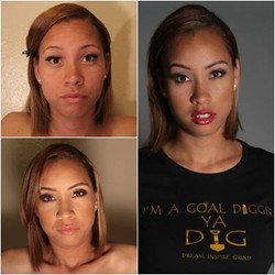 Before & After Makeup & Photoshoot