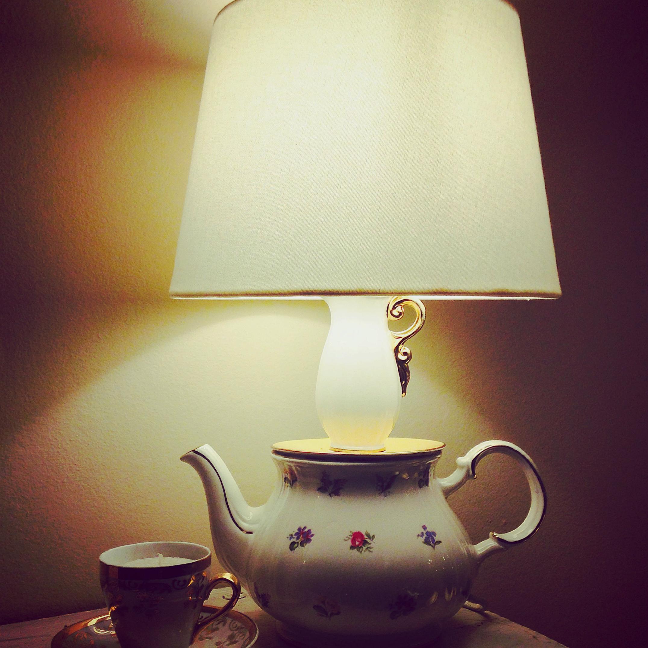 ** SOLD ** lamp flower