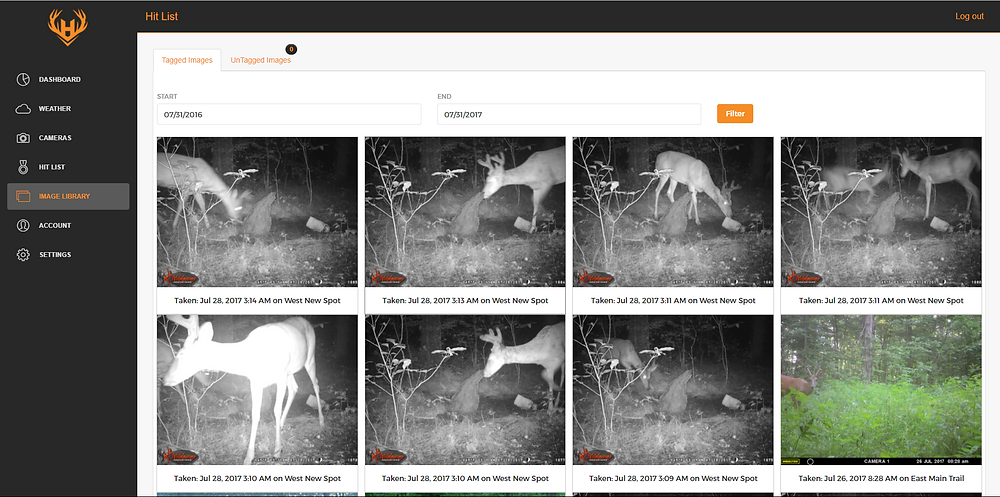 Trail Camera Image Management