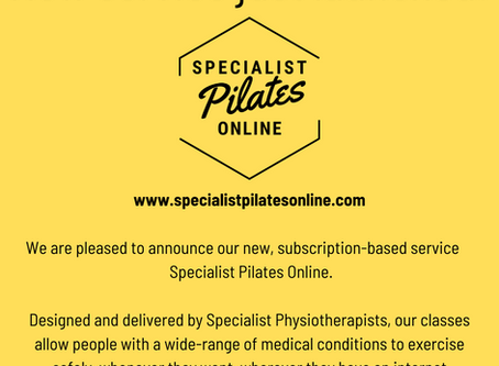Specialist Pilates Online launches