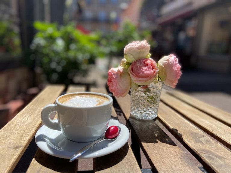 cappuccino café latte rose