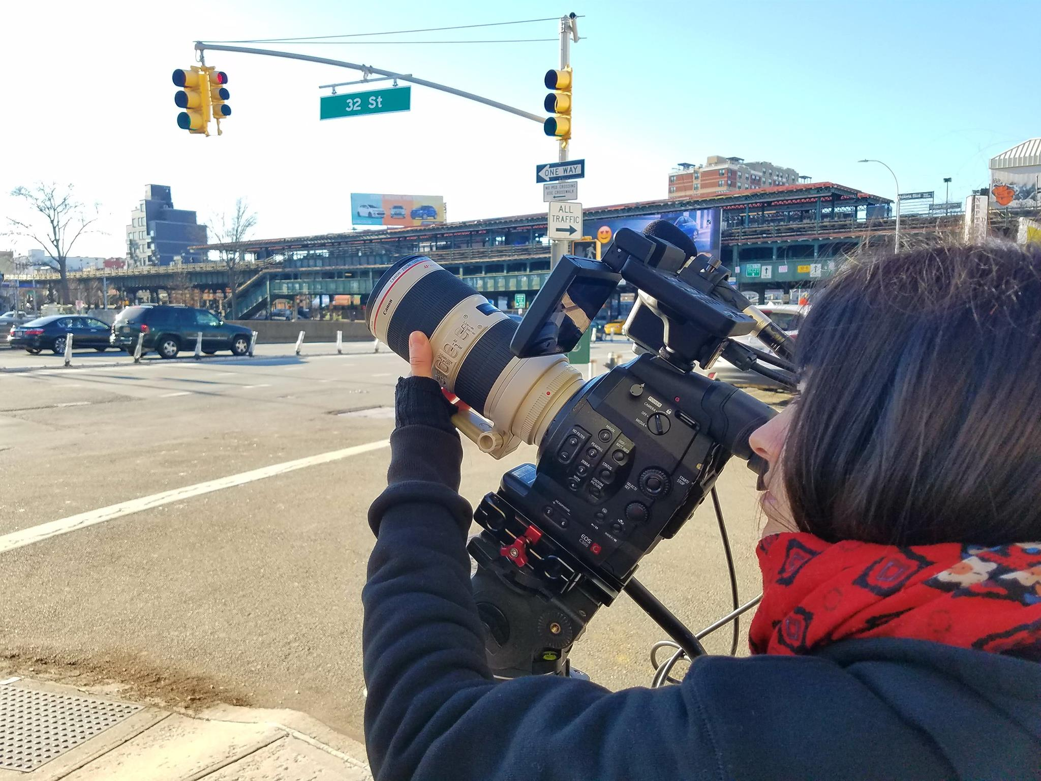 Filming in Queens