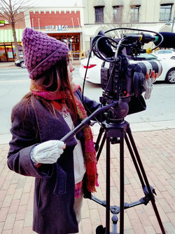 Filming in winter cold!