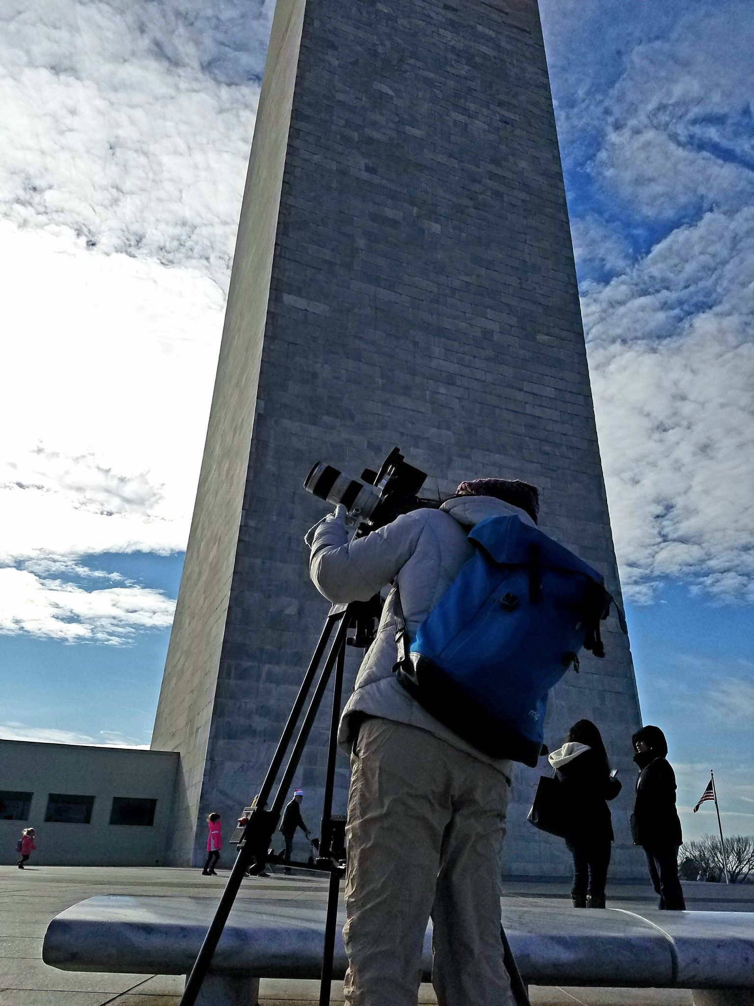 Filming in Washington D.C.