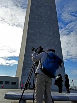 Filming in Washington D.C.