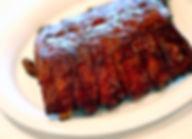A rack of  BBQ ribs