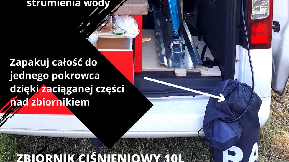 Zbiornik ciśnieniowy 10L + pokrowiec