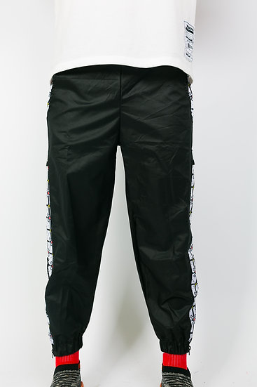 U PATTERN PANTS BLACK