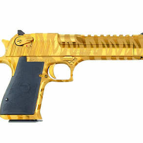 NEW - DESERT EAGLE GOLD TIGER STRIPES .50