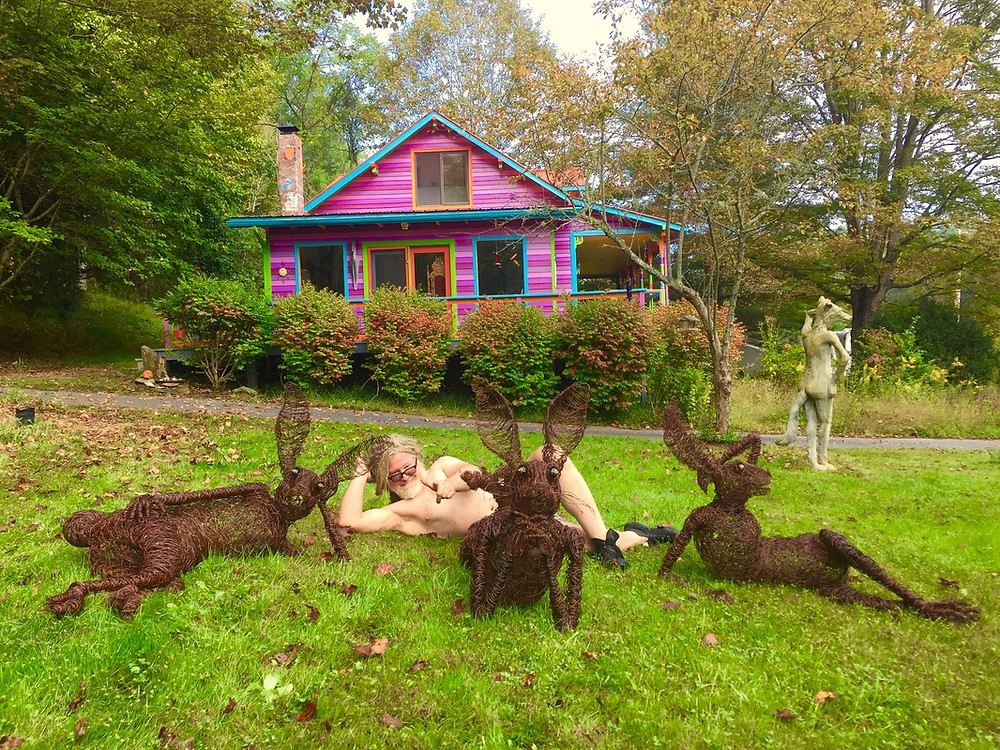 Josh Cote at his home in Bakersville, North Carolina.