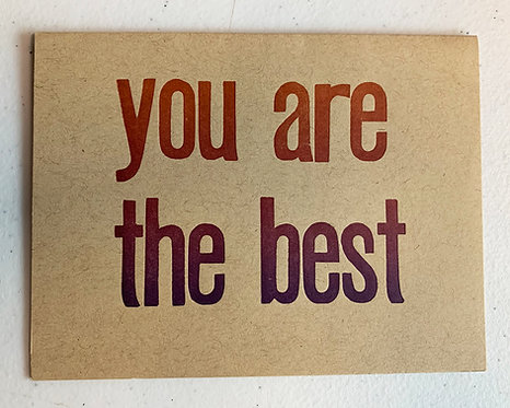 You Are the Best Card-Jessica Peterson
