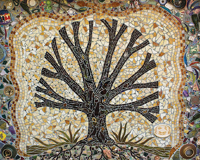 Kentuck Tree mosaic Linda Munoz Rhys Greene