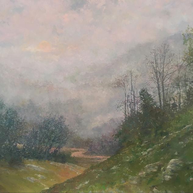 """Burning Through The Fog"" by Dennis Heckler"