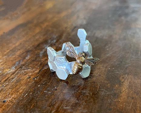 Bee Honeycomb Ring-Ricky Boscarino