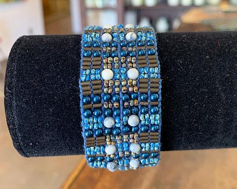 Evening Pearls Loomed Bracelet - Jean Upton